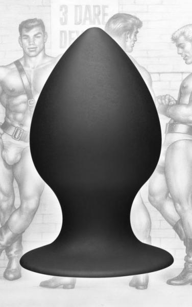 Tom Of Finland XL Silicone Anal Plug Black