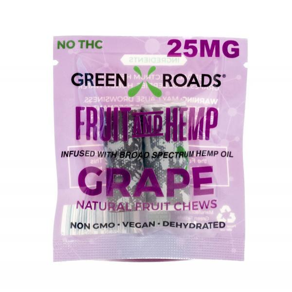 CBD Edibles 25mg On The Go Fruit + Hemp Grape 2 Pack