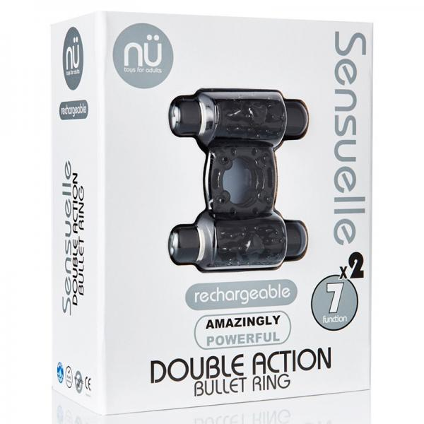 Sensuelle Double Action 2 X 7 Function Cockring Black