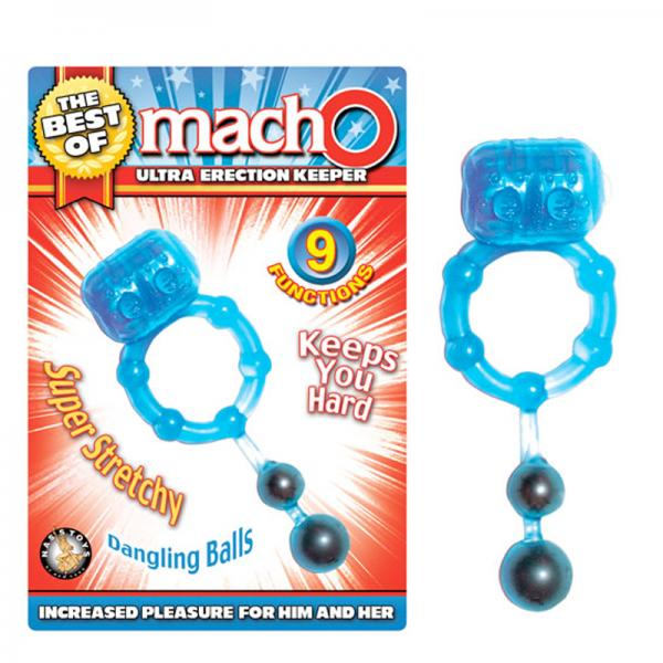 The Best Of Macho Ultra Erection Keeper Blue Cock Ring