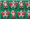 Flashing Santa - Green Gift Wrap GW01thmb