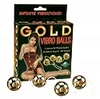 Gold Vibro Balls 4pc. set 2705-02thmb