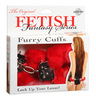 Fur Handcuffs - Red 3804-15thmb