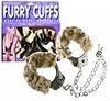 Fur Handcuffs - Zebra 3804-41thmb