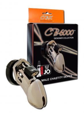 "Cb-6000 Male Chastity Device 3 1/4"" Chrome Cage"