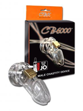 "Cb-6000 Male Chastity Device Clear 3 1/4"" Cage"
