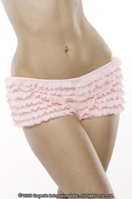 Ruffle Shorts W/Back Bow Pink O/S