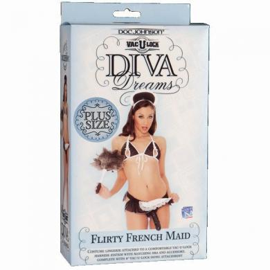 Diva Dreams Frnch Maid Plus Size W/Dong