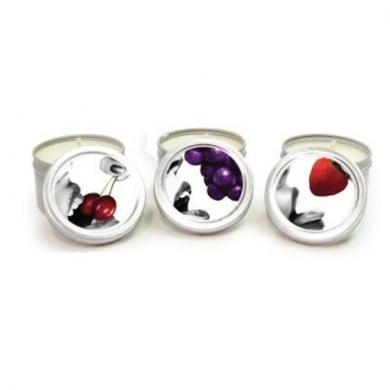 Candle 3 Pack Edible Cherry, Grape, Strawberry