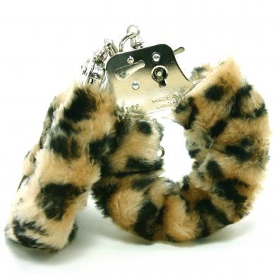 Plush Love Cuffs Leopard Handcuffs