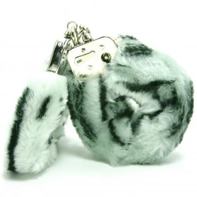 Plush Love Cuff Zebra