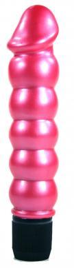 Pearl Sheen Ribbed Vibrator Pink