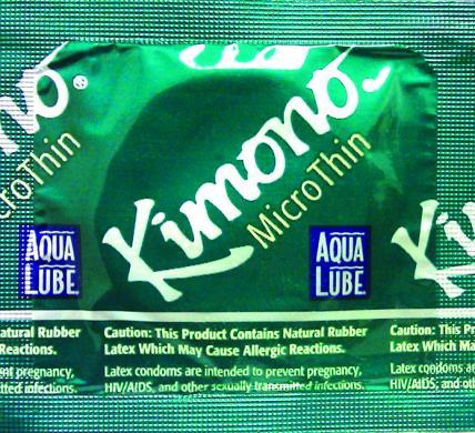 Kimono Micro Thin Aqua Lube Latex Condoms 3 Pack