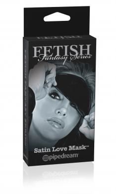 Limited Edition Satin Love Mask Black O/S