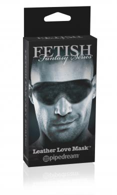 Limited Edition Leather Love Mask Black