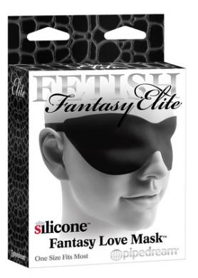 Silicone Fantasy Love Mask Black
