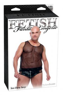 Fetish Fantasy Male See Thru Sexy L/Xl