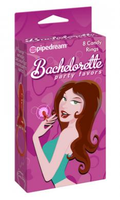 Bachelorette Party Favors Candy Rings 8 Pieces