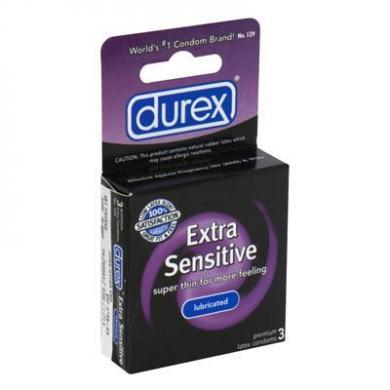 Durex Extra Sensitive Lubricated 3pk