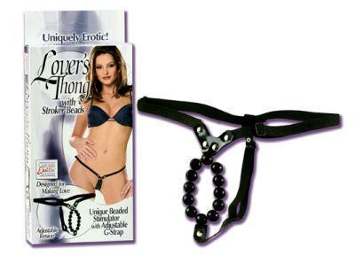 Lover's Thong w/Stroker Beads