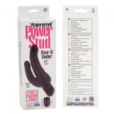 Power Stud Over & Under Vibrator Waterproof - Black