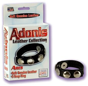 Adonis Leather Collection Ares 5 Snap Ring