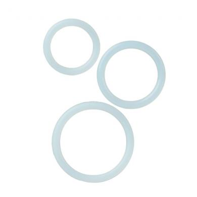 Silicone Support Rings Clear 3 Pack