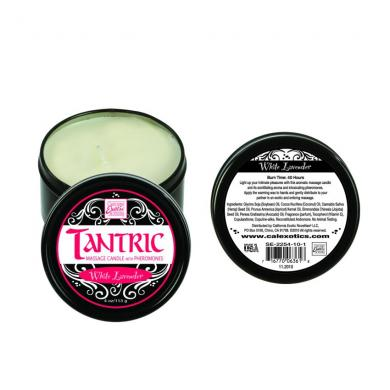 Tantric Soy Massage Candle W/PheromonesWhite Lavender