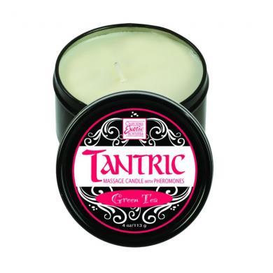 Tantric soy candle w/pheromones - Green Tea