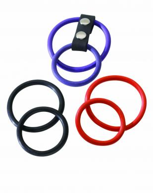 Interchangeable Dual Cock Ring Set