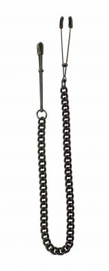 Black Tweezer Clamp W/Link Chain
