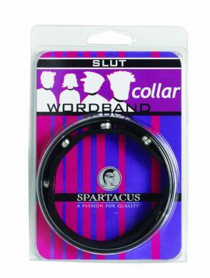 Wordband Collar - Slut - Black