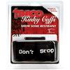 Taboo Kinky Cuffs Don't Stop Black 4020-6thmb