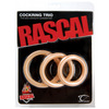 Rascal Cock Ring Trio, Natural 9047-6thmb
