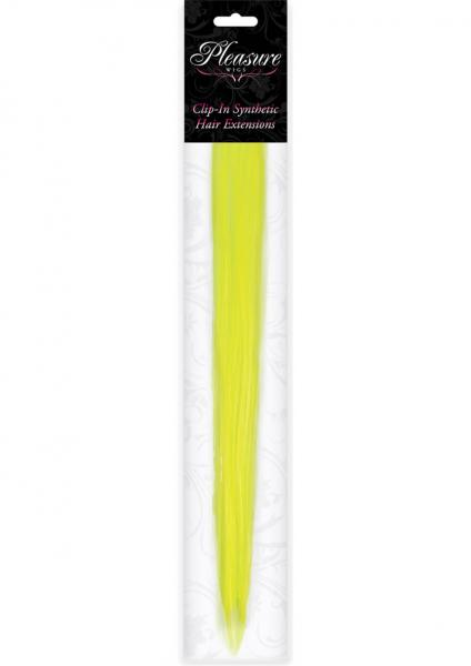 Hair Clip In Extension Neon Yellow