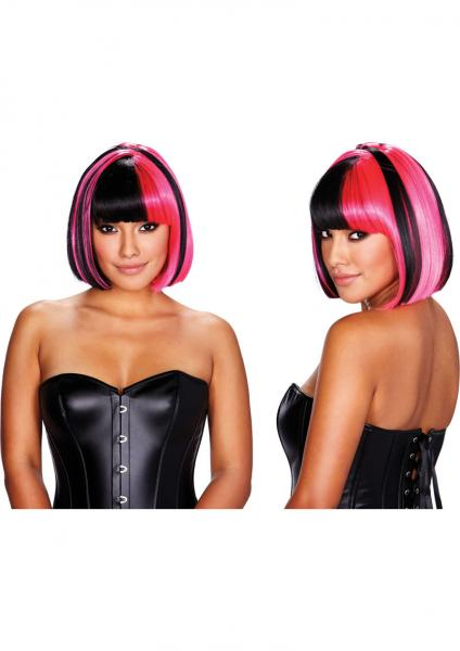 Kitty Wig Pink Black