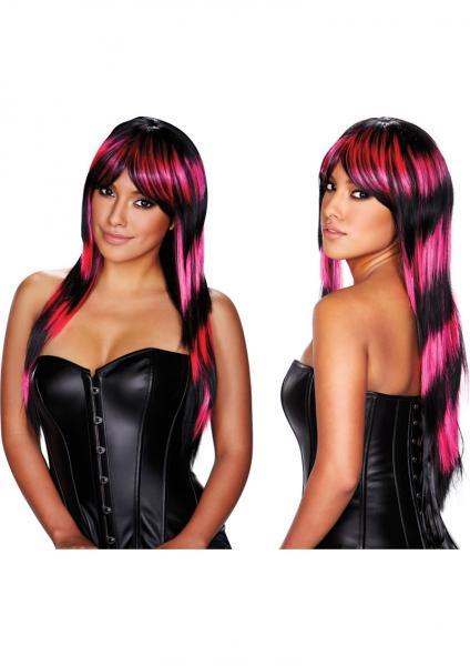 Stefani Wig Pink Black